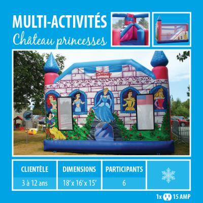 Location de Jeux gonflables - multi-activités Château des princesses