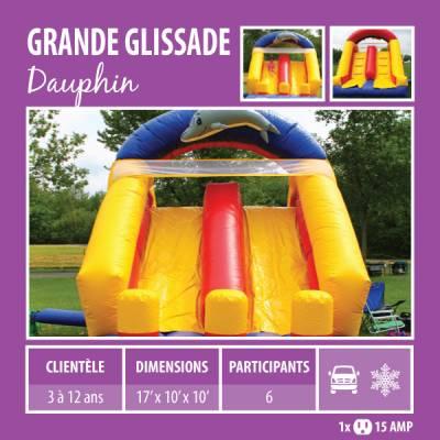 Location de Jeux gonflables - Grande glissade Dauphin