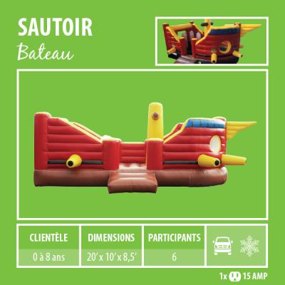 Location de Jeux gonflables - sautoir bateau