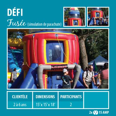 Location de Jeux gonflables - Sport gonflables - simulateur de parachute - fusée