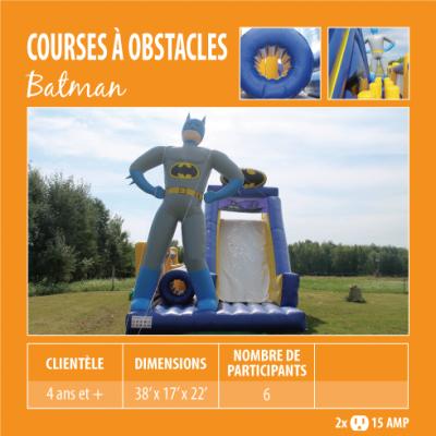 Location de Jeux gonflables - course à obstacle Batman