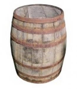 Soirée thématique Chic Rustique - décors - baril de whisky
