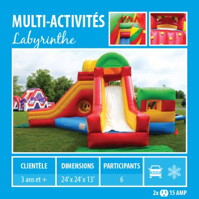 Location de Jeux gonflables - multi-activités Labyrinthe