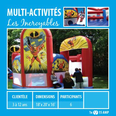 Location de Jeux gonflables - multi-activités Les incroyables