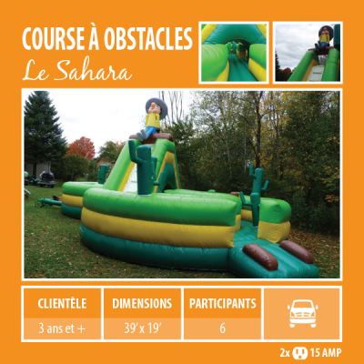 Location de Jeux gonflables - course à obstacle Le sahara