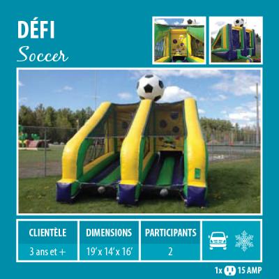 Location de Jeux gonflables - Sport gonflables - Défi soccer