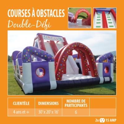 Location de Jeux gonflables - course à obstacle Double défi