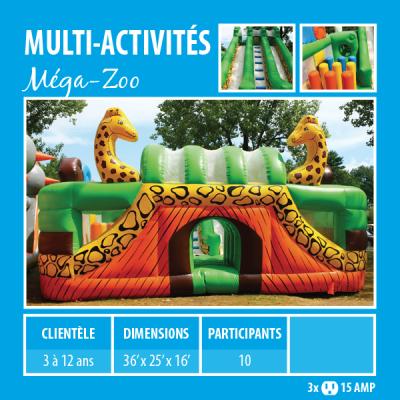 Location de Jeux gonflables - multi-activités Méga-Zoo