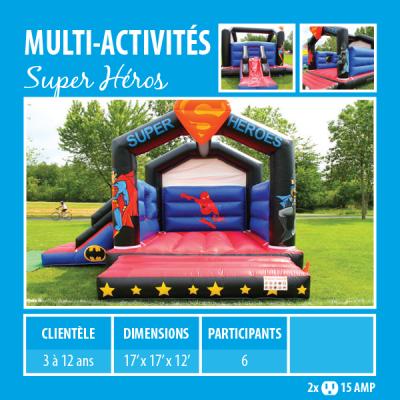 Location de Jeux gonflables - multi-activités Super Héros