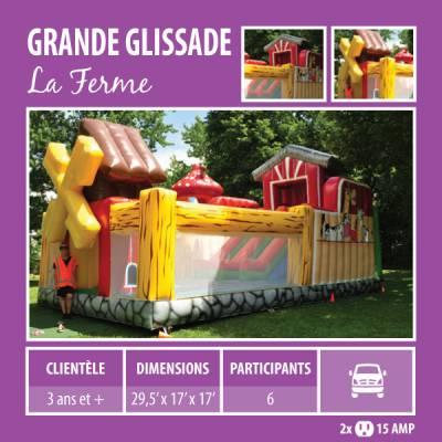 Location de Jeux gonflables - Grande glissade La ferme