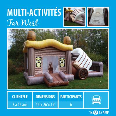 Location de Jeux gonflables - multi-activités Far West