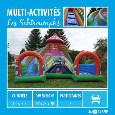 Location de Jeux gonflables - multi-activités Les Schtroumphs