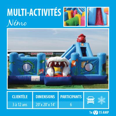 Location de Jeux gonflables - multi-activités Némo