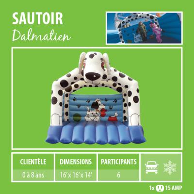 Location de Jeux gonflables - sautoir Dalmatien