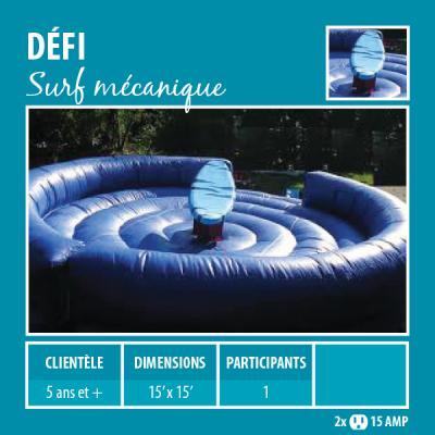 Location de Jeux gonflables - Sport gonflables - Surf mécanique