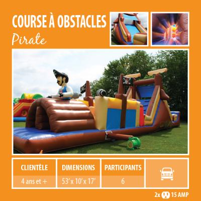 Location de Jeux gonflables - course à obstacle Pirate