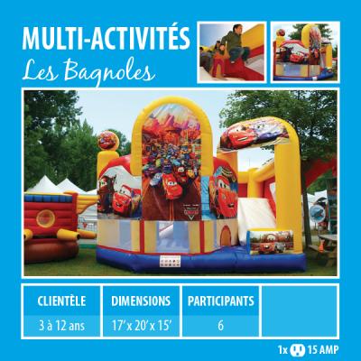 Location de Jeux gonflables - multi-activités Les bagnoles