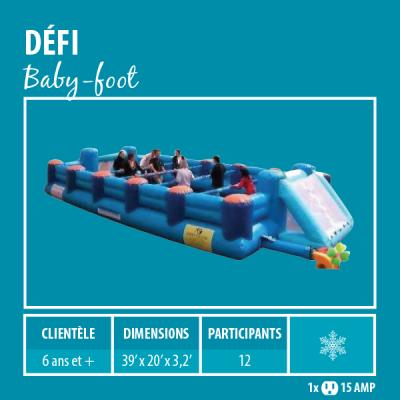 Location de Jeux gonflables - Sport gonflables - Baby-foot géant