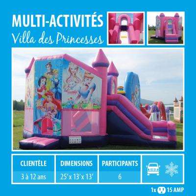 Location de Jeux gonflables - multi-activités Villa des princesses