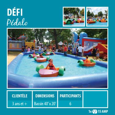Location de Jeux gonflables - Sport gonflables - pédalo pour enfants