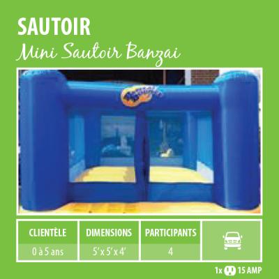 Location de Jeux gonflables - sautoir Banzai