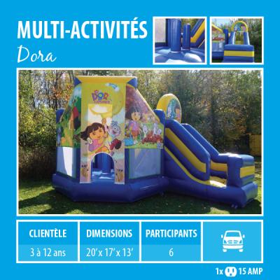 Location de Jeux gonflables - multi-activités Dora