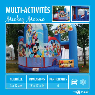 Location de Jeux gonflables - multi-activités Mickey Mouse