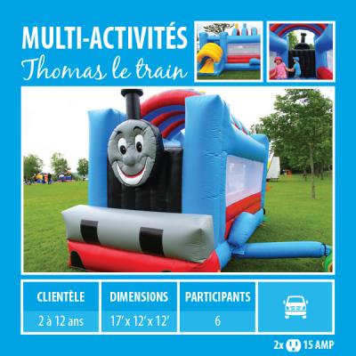Location de Jeux gonflables - multi-activités Thomas le train